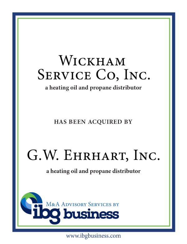 Wickham Service Co., Inc.